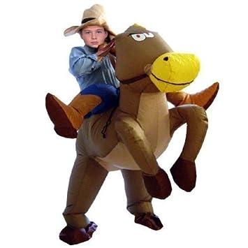 Amazon.com: Para niños traje de disfraz de vaquero hinchable ...