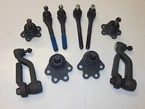Suspension kit 10 pcs. 2 Upper 2 Lower Ball Joints 2 Inner 2 Outer Tie Rod Ends 2 Idler Arms Right and Left Side AWD vehicles