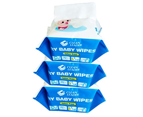 Soft Baby Dry Wipes Dry Cotton Wipes Disposable Cleansing Wipes Baby washcloth Incontinence Wipes Great for Sensitive…