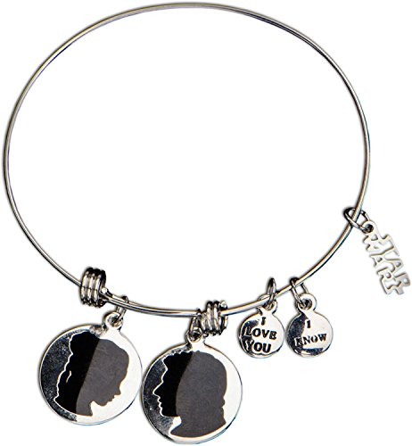 [Women's Stainless Steel Star Wars Han Solo and Princess Leia