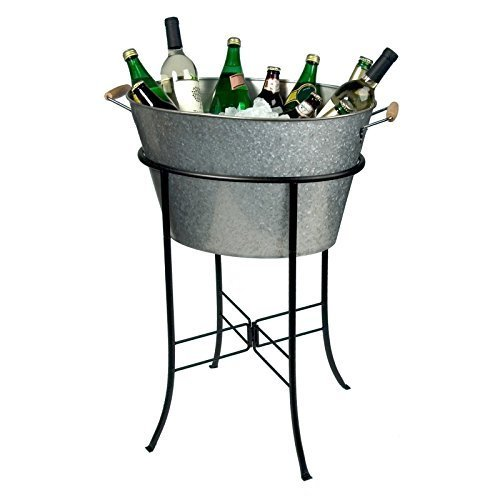 Oasis Galvanized Party Tub with Stand