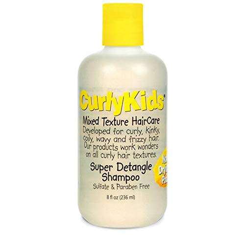 CurlyKids Mixed Hair HairCare Set Super Detangling Shampoo 8.0 Ounce, Conditioner 8.0 Ounce, Spray 6.0 Ounce, Curly…
