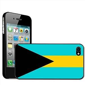 Fancy A Snuggle - Carcasa para iPhone 4 y 4S, diseño bandera de Bahamas, 1unidad