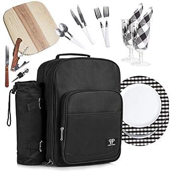 Amazon.com: Allcamp Mochila de picnic para 2 personas con ...