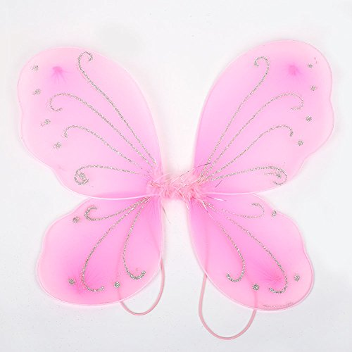 MingXiao Elf Fairy Wing Butterfly Wings Nuevo Adulto 42 * 31cm Vestido de Mariposa de Halloween para niñas Tinker Bell...