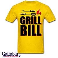 T-shirt uomo Grill Bill, Kill Bill inspired divertente barbecue BBQ lover!