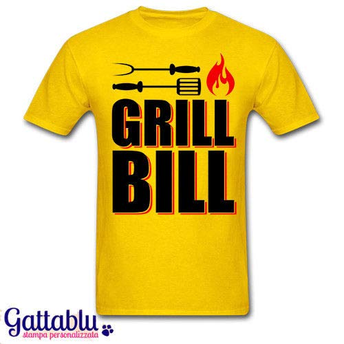 T-shirt uomo Grill Bill, Kill Bill inspired divertente barbecue BBQ lover!