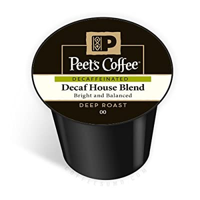 Peet's Coffee K-Cup Portion Coffee for Keurig Brewers - Deep Roast House Blend Decaf