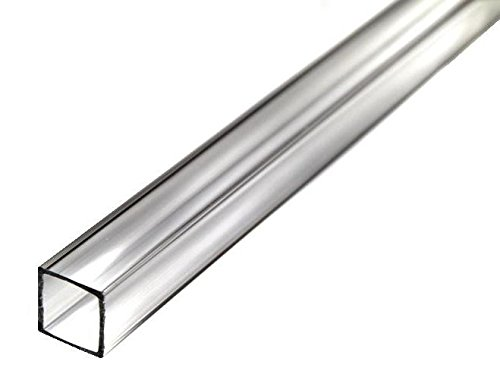 Acrylic Extruded Tube Square - Clear - 72'' Length x 5/8'' ID 3/4'' OD 1/16'' Wall (Nominal) by Plastic-Craft