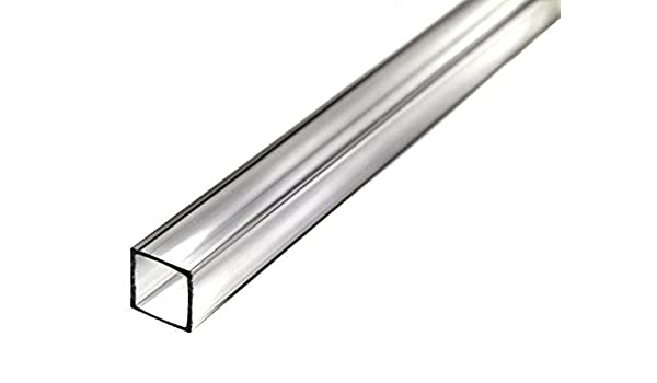 Clear Pack of 3 Nominal 11-7//8 Length x 3//8 ID 5//8 OD 1//8 Wall Acrylic Extruded Tube Round