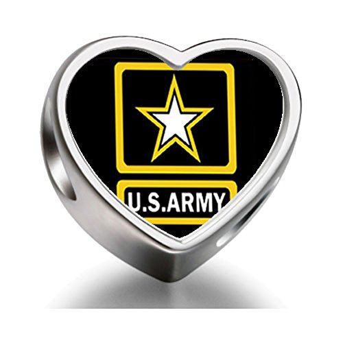 [Burning Love Character Army Heart Photo Charm Beads Bracelets] (Character Photo Charms)