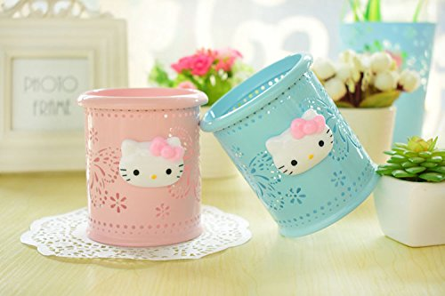 867ff82a4 YOURNELO Cute Hello Kitty Hollow-Out Pen Pencil Holder Desk Organizer  Accessories (Pink Butterfly)