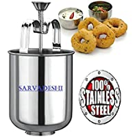 Sarvadeshi Stainless Steel MEDUVADA Maker for Perfectly Shaped & Crispy Medu Vada, Hygienic Without Any Hassle.