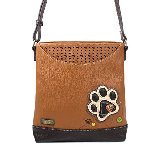 Chala Sweet Messenger Tote Bag PawPrint - Brown