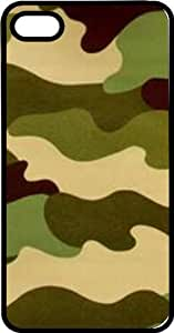 Camouflage Black Rubber Case for Apple iPhone 4 or iPhone 4s