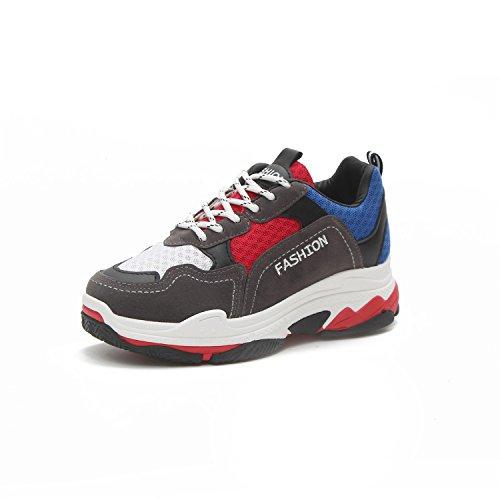 de Mujeres Deporte Deportes 37 Rojo tamaño Deporte de Color para Amortiguación Zapatillas Running Las Zapatillas Ligera de Mujeres de Zapatillas O4zqPwx