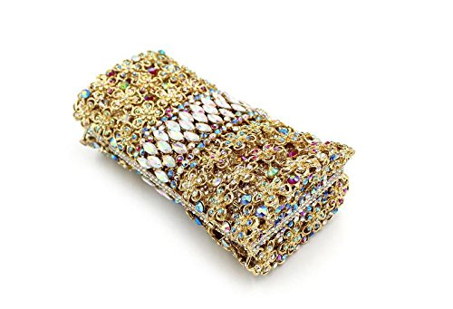 WYB Europäischen und amerikanischen Luxus-Blume Diamant-Abendtasche / Kupplung / Damen hohle Paket / Kristallabendtaschen