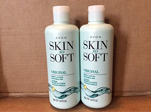 LOT OF 2 AVON SKIN SO SOFT SSS ORIGINAL + JOJOBA Body Lotion 11.8 fl oz.ea