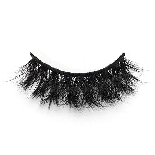 GLMR 3 Pairs Reusable Mink Fur False Eyelashes, Long Crisscross and Thick lashes(ML03), with Eyelashes Applicator Tool