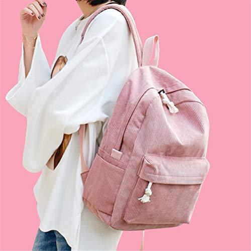 Bag Donne Adolescenti Zaino Bags Vhvcx Bolsa Ragazze Kawaii Dello Corduroy Bookbag Escolar For Femminile Della A Bagpack Scuola 88apwBq