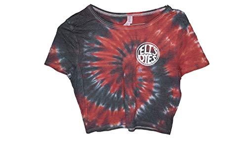 Eli's Dyes Tie Dye Tank/Crop Top/for Woman (M/L, Red/Black)