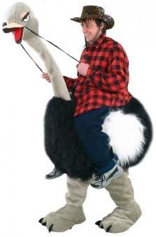 Mascotte Disfraz de piel de avestruz, color negro: Amazon.es ...