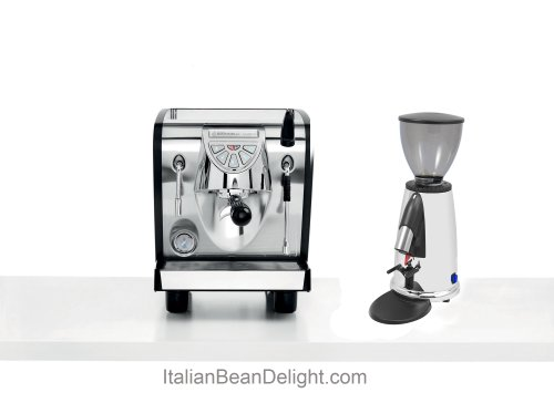 Nuova Simonelli Musica Black Pour Over Espresso Coffe Machine & Macap Chrome Doserless Programmable Grinder