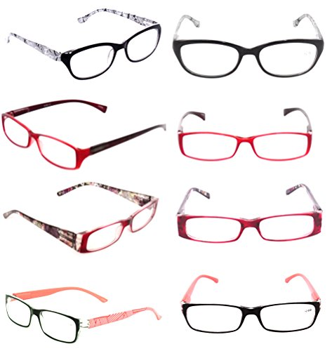 Fashionable Ladies READING GLASSES Lot 3 Pack Optical Clearance Women's EYEGLASSES Styles Plastic - Sample Frames Glasses