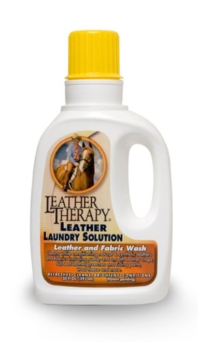 Leather Therapy Laundry Solution - Leather, Fabric and Sheepskin Wash - 20 ounce
