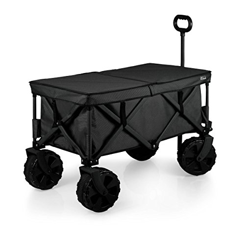 ONIVA - a Picnic Time Brand Elite Edition Collapsible Adventure Wagon with All-Terrain Wheels, Black