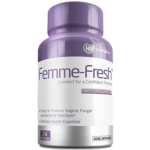 FEMME-FRESH™ Boric Acid Vaginal Suppositories - Feminine Health Support & pH Balance - Prevents Yeast Infections, Alleviates Pain and Discomfort. Made in USA – 24 Delicate Suppositories Femme Medicine