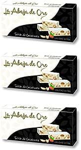 Turrón Duro de Cacahuete - La Abeja de Oro Pack incluye 3 barras de 200gr: Amazon.es: Alimentación y bebidas