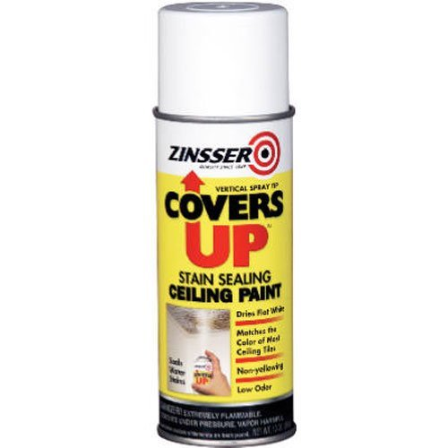 Ceiling Spray (Zinnser 03688 Covers Up Stain Sealing Ceiling Paint, White by Zinnser)