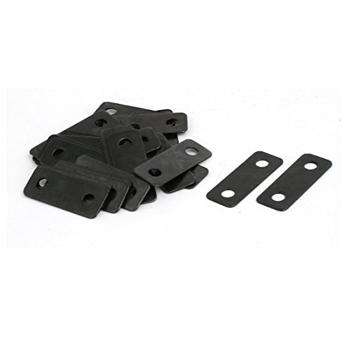 Straight Black Bracket - uxcell 30pcs 24mmx9mmx0.5mm Flat Corner Brace Angle Plate Repair Bracket Black