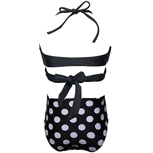 Enfant Plage Tenue Chic Noir De Pièces Halter 6 3 Bikini Set Plier Bain Bébé Été Wave Bandage Fille Point Mignon Bohême Maillot Ans Deux Amlaiworld Impression qZxHRff