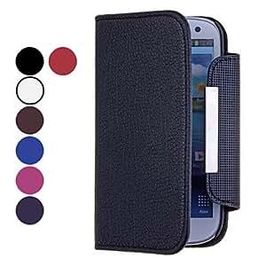 Conseguir Color sólido microsurco de cuerpo completo Caja de cuero de la PU para Samsung S3 I9300 , Café