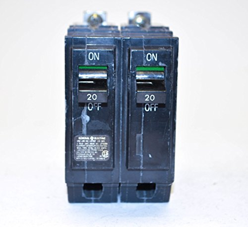GE Industrial General Electric THQB2120 2 Pole, 20 Amp 120/240V Bolt-on Circuit Breaker
