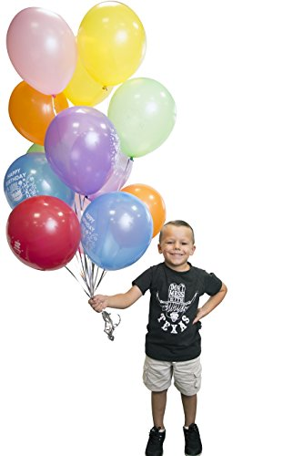 Happy Birthday Balloons - Birthday Party Decorations Pack of 100 Rainbow Variety Color Balloons for Party - 100 Large Round Balloons -