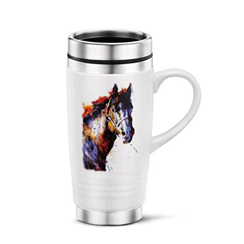 Demdaco 3005050853 Big Sky Carvers Poncho Horse Travel Mug, (Horse Travel Mugs)