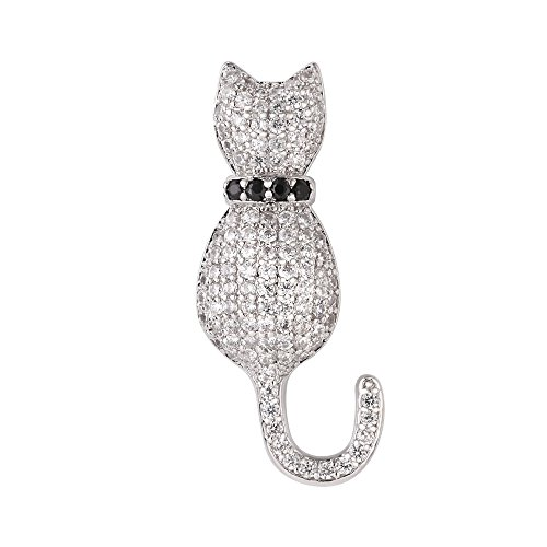 Cat Brooch - Cat Brooches Women Fashion Suit Accessories Cubic Zirconia Cute Lapel Pin Corsage Platinum Plated Brooch