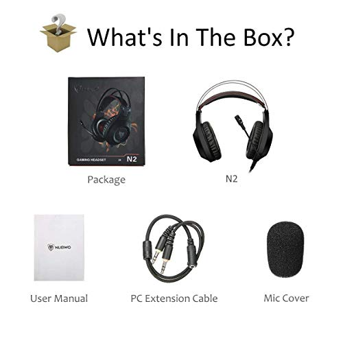 NUBWO N2 Gaming Headset for Xbox One PS4 Playstation 4, Headphones Computer  PC Mic Stereo Fortnite Gamer Microphone for Skype Xbox one s Xbox 1 x