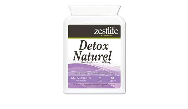 Zestlife Detox Naturel 600mg 60 cápsulas Suave Cuerpo ...