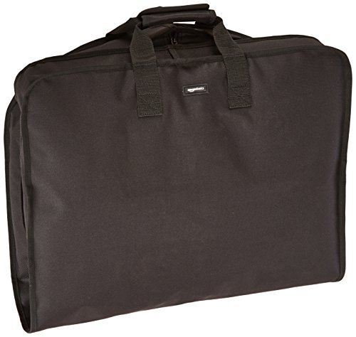 AmazonBasics Travel Hanging Luggage Suit Garment Bag - 40 Inch, Black