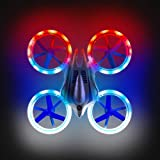 Mini Drones for Kids - UFO 4000 360 Flip Stunt Drone Multicolor LED RC Quadcopter Gifts for Boys and Girls