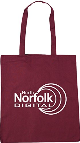 Norfolk x38cm 42cm North Tote Shopping Digital Beach HippoWarehouse litres Gym Bag Burgundy 10 C5wzqdH