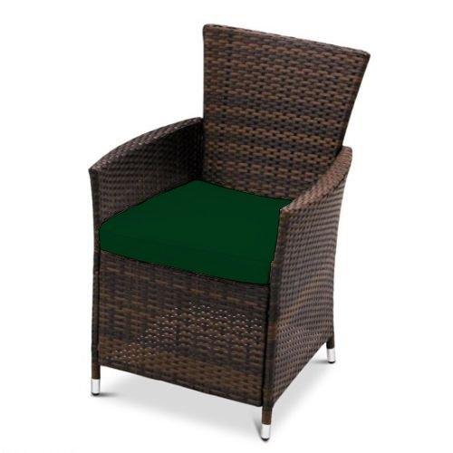 Wasserfest Ersatz Sitzkissen für Außen Garten Stuhl Terrasse Möbel, Erhältlich in 11 Farben - Grün, 8 Packungen