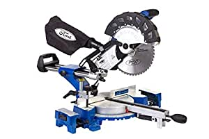 Ford 2200 Watts 255mm Bevel Sliding Compound Mitre Saw, Corded Electric 10 inches Wood Cutting, High Quality Wood Working Power Tool