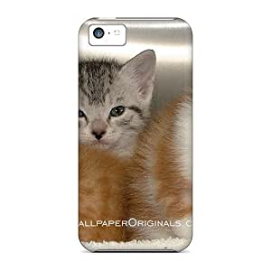 Bernardrmop Premium Protective Hard Case For Iphone 5c- Nice Design - 3 Lovely Kittens
