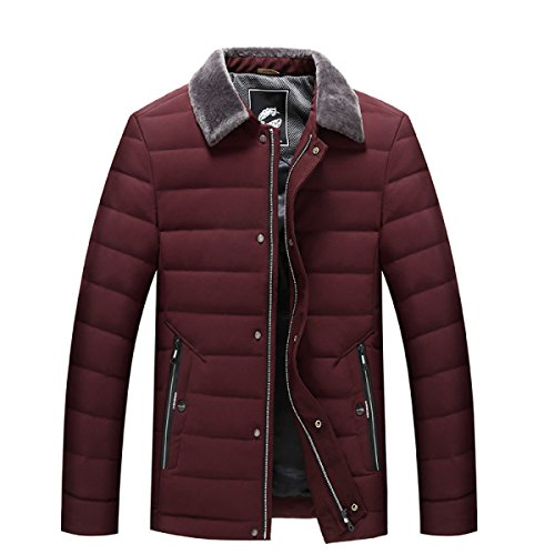 CXQWAN Fashion Plus Jacket Thickening Red Increase Men Size Self cultivation Warm Winter Down Jacket rrw1dzq