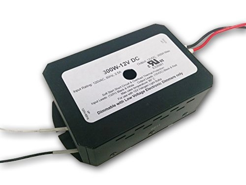 300W 12V DC Electronic Transformer - Replacement for Lightech LET 303 DC